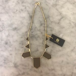 House of Harlow 1960 Taupe Gold Necklace
